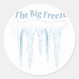 Big Freeze Round Sticker