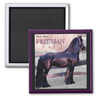 Big Friesian Horse Magnet 2