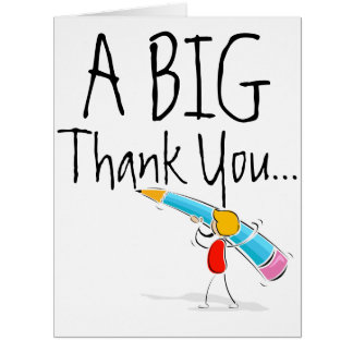 Big Giant Thank You Card