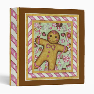 Big Gingerbread Scrapbook Holiday Binder
