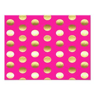 Big Gold Foil Polka Dots Hot Pink Photo Print