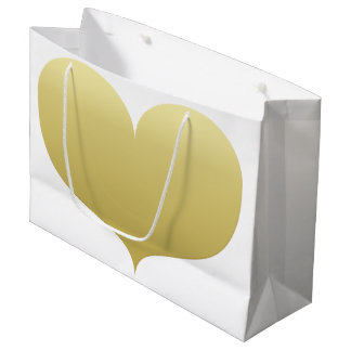 Big Gold Heart   Romantic Gift Bag