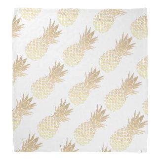 big gold pineapples pattern bandana