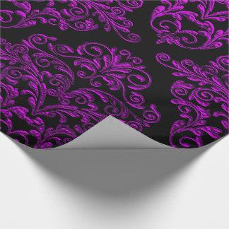 Big Gothic II Damask Elegant Holiday Wrapping Paper