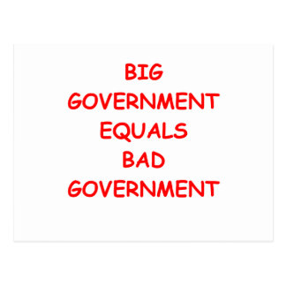 big government postcard
