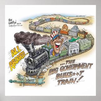 Big Govt Train Poster
