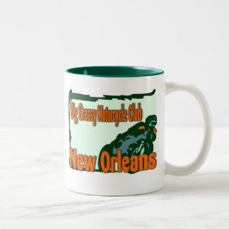 Big Greasy Motorcycle Club, New orleans Two-Tone Coffee Mug
