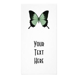 Big Green & Black Butterfly Photo Card