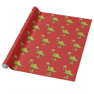 Big Green Dino Wrapping Paper