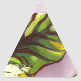 big green leaf triangle stickers