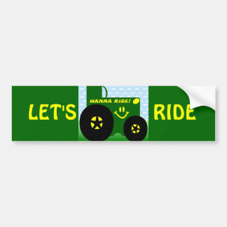 BIG GREEN TRACTOR BUMPER STICKER