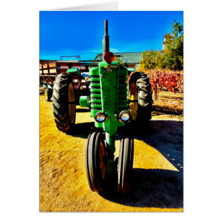 Big Green Tractor Card