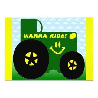 BIG GREEN TRACTOR INVITATIONS