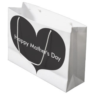 Big Grey Heart   Happy Mother's Day Gift Bag