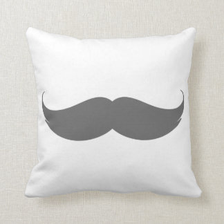 Big Grey Moustache Cushion