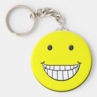 Big Grin Smiley Keychain
