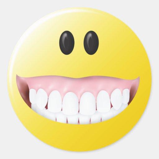 Big Gums Smiley Face Round Sticker