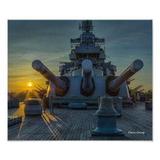 Big Guns At Sunset Photo Art