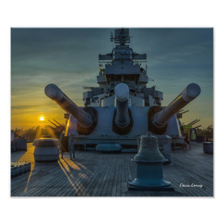 Big Guns At Sunset Photo Print