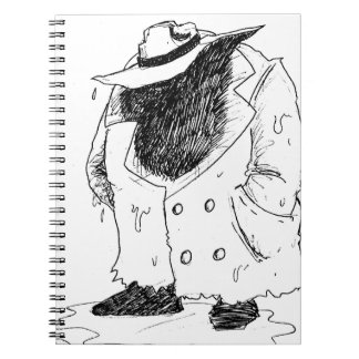 Big guy in trenchcoat notebooks
