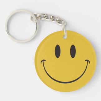 Big Happy Face Smiley emoji Single-Sided Round Acrylic Keychain