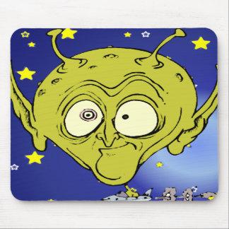 Big Headed Alien Mousepads
