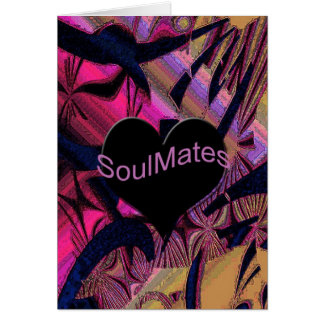 """Big Heart"" Abstract soul mate greeting card.* Card"