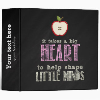 Big heart vinyl binders