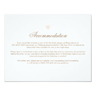 Big Heart Wedding Direction Card