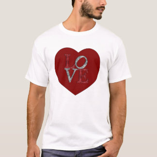 Big heart with sparkling LOVE! T-Shirt