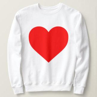 BIG HEART women's white sweatshirt
