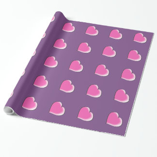 Big hearts wrapping paper