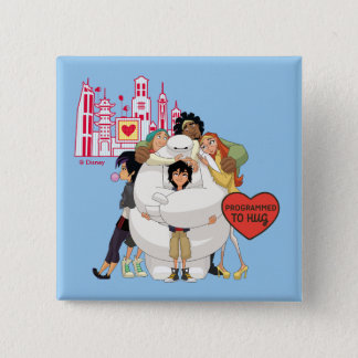 Big Hero 6 | Programmed to Hug Valentine 2 Inch Square Button