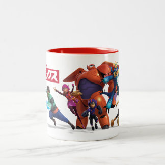 Big Hero 6 Superheros Two-Tone Coffee Mug