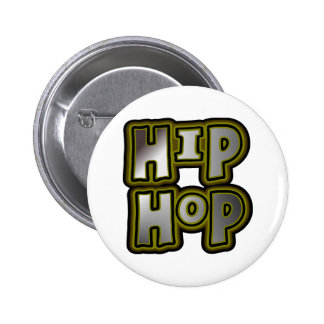 Big Hip Hop Graffiti Multi-Color, Metal Effects 2 Inch Round Button