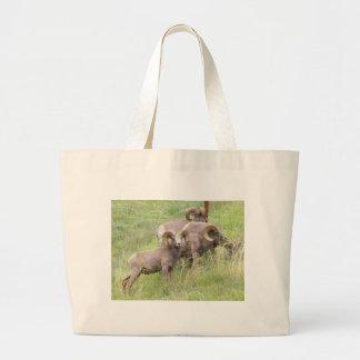 Big Horn Sheep Feeding Tote Bags