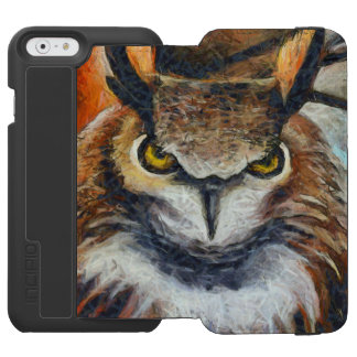 Big Horned Grumpy Owl Incipio Watson™ iPhone 6 Wallet Case