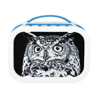 Big Horned Owl Art Lunch Box