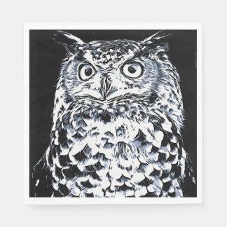 Big Horned Owl Art Paper Napkin