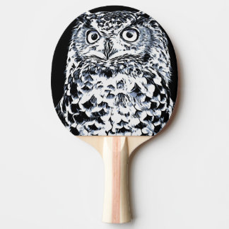 Big Horned Owl Art Ping Pong Paddle