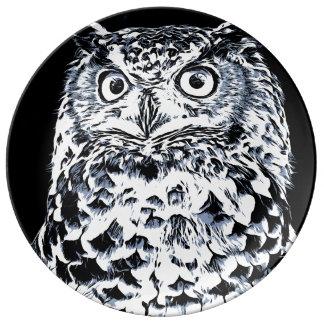 Big Horned Owl Art Plate