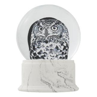 Big Horned Owl Art Snow Globe