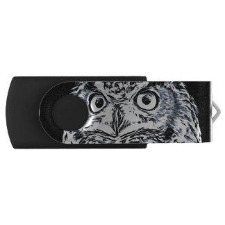 Big Horned Owl Art USB Flash Drive