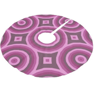 Big Hypnotic Circle in Pink and Burgundy Brushed Polyester Tree Skirt