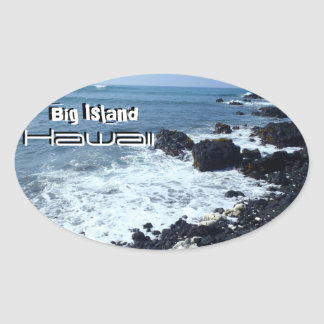 Big Island Hawaii black sand beach stickers