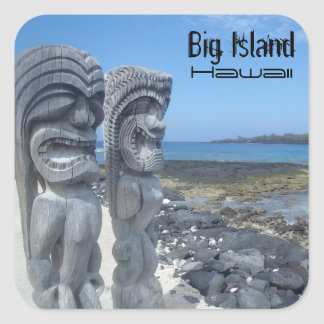 Big Island Hawaii laughing tikis stickers