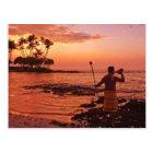 Big Island, Hawaii. Sunset, Big Island Hawaii. Postcard