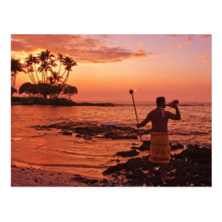 Big Island, Hawaii. Sunset, Big Island Hawaii. Postcard
