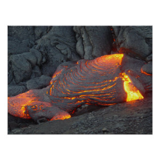 Big Island Lava Flow Hawaii Poster