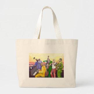 ** Big JAzz Band ** Large Tote Bag